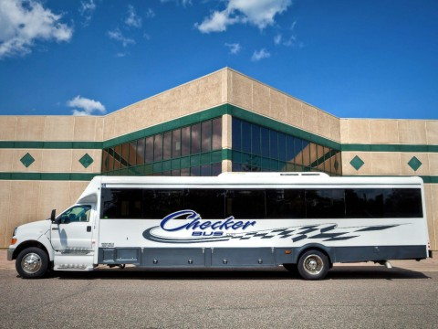 2011 Ford F750 Glaval Bus 39 Passengers w/ Restroom and Storage for sale