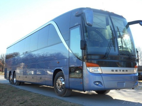 1995 setra s215 59 passenger charter bus with dd series 60 for Used motor coach buses for sale