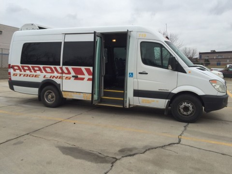 2008 Dodge Sprinter Dual Rear Wheel Shuttle Bus 14 Pass for sale