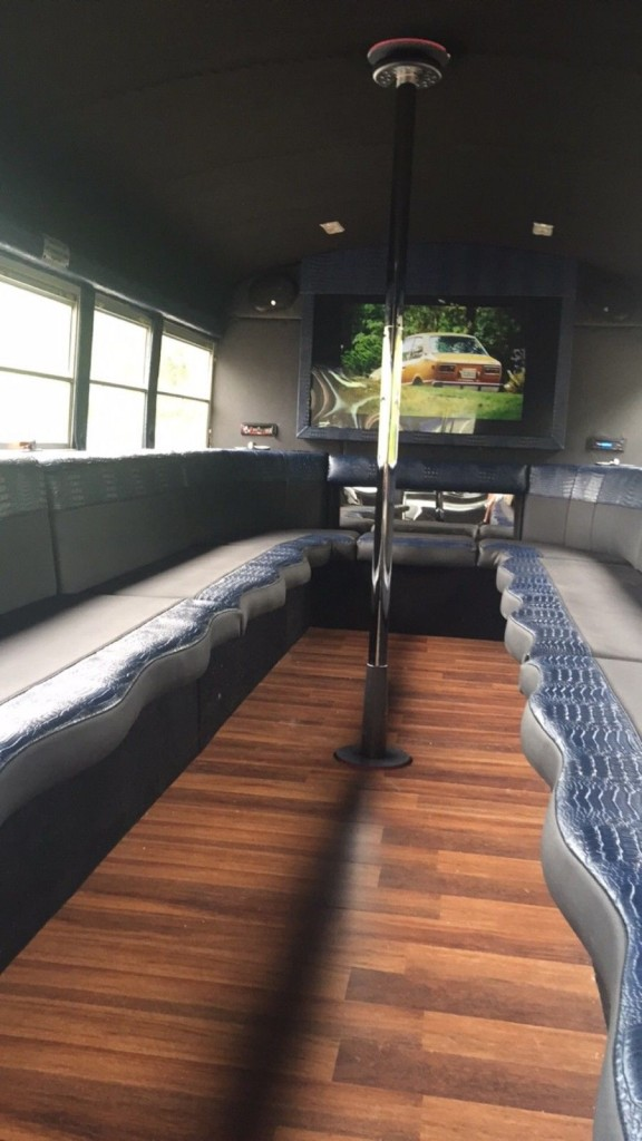 Party bus with Brand new Inside