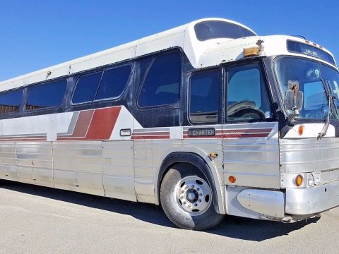 "1970 GMC PD 4905 ""Buffalo"" Bus like Airstream Scenicruiser for sale"