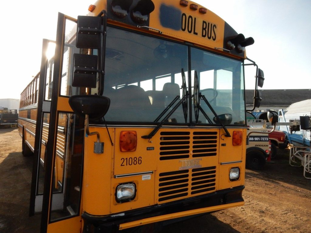 2002 Thomas Flat Nose 84 Passenger School Bus w/ Caterpillar C7 7.2L Diesel